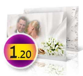 עיצובים של הזמנות חתונה דו-צדדי